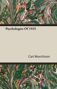 Psychologies Of 1925
