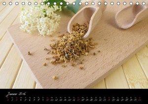 Heilsame Teekräuter (Tischkalender 2016 DIN A5 quer)
