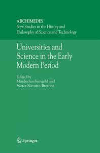 Universities and Science in the Early Modern Period