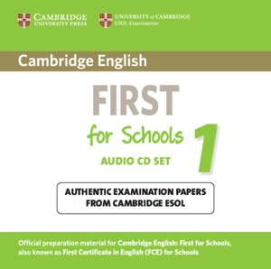 Cambridge First Cert. in English f. Schools 1/2 CDs