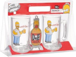 "The Simpsons - 2 Biergläser mit Öffner im Set ""Mhm, beer"""