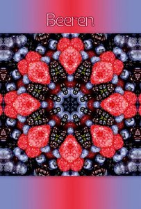 Premium Textil-Leinwand 80 cm x 120 cm hoch Beeren Mandala