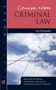 Course Notes: Criminal Law