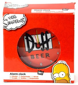 "The Simpsons - Wecker "" Duff-Kronkorken"""