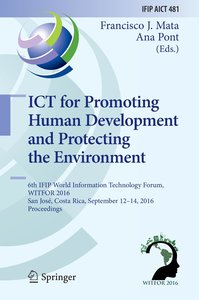 ICT for Promoting Human Development and Protecting the Environme