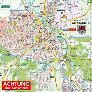 Ahrensburg mit Großhansdorf 1 : 20.000 Posterplan