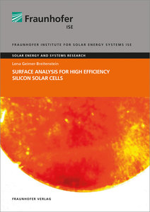 Surface Analysis for High Efficiency Silicon Solar Cells.