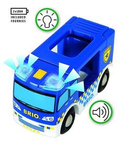 BRIO 33825000 Polizeiwagen mit Licht und Sound