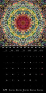 Flower Energy Mandalas (Wall Calendar 2016 300 × 300 mm Square)