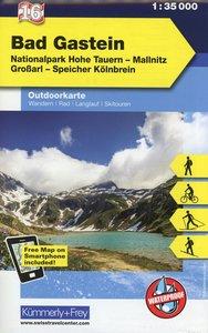 KuF Österreich Outdoorkarte 16 Bad Gastein 1 : 35 000