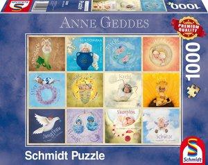 Schmidt 59380 - Anne Geddes, Sternzeichen-Babys, Puzzle, 1000 Te