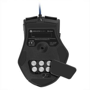 Sharkoon Drakonia Black - Gaming Laser Maus 8200 dpi