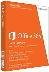 Microsoft Office 365 Home Premium - 5PCs/MACs - 1 Jahres Abonnem