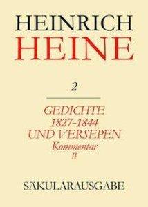 Gedichte 1827-1844 und Versepen. Kommentar II