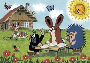Urlaub mit Maulwurf und seinen Freunden. Puzzle 2 x 24 Teile