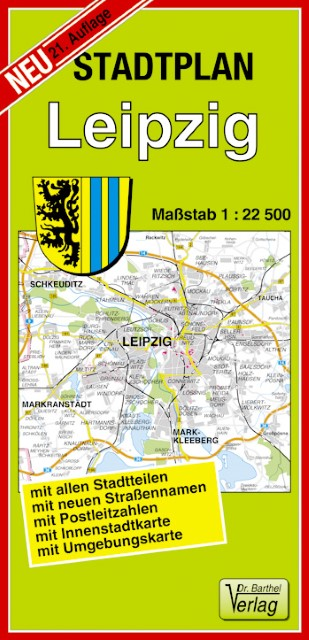 Leipzig 1 : 22 500. Barthel Stadtplan - zum Schließen ins Bild klicken