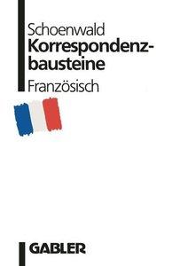 Korrespondenzbausteine Französisch