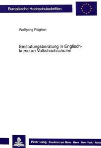 Einstufungsberatung in Englischkurse an Volkshochschulen