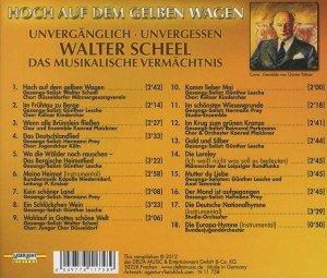 Walter Scheel-Hoch Auf Dem Gelben Wagen
