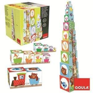Goula D55219 - Stapelturm Tiere, 10-teilig