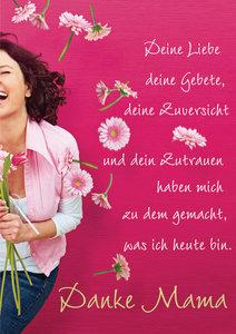 """Faltkarte """"Deine Liebe... - Danke Mama"""" - 5 Stück"""