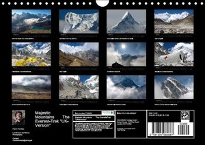 Majestic Mountains - The Everest-Trek / UK-Version (Wall Calenda