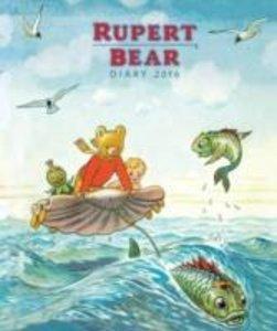 Rupert Bear Illustrated Desk Diary 2016