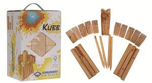 Schildkröt: Kubb Spiel, Wikingerkegeln, Pinienholz
