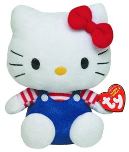 Hello Kitty Baby - Overall blau/rotweiss 15cm