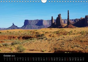 Wild beauty of Arizona / UK-Version (Wall Calendar 2015 DIN A4 L