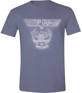 Top Gun - Eagle Maverick - T-Shirt - Blau meliert - Größe L