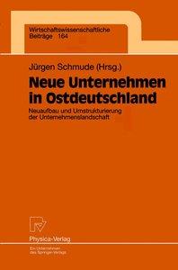 Neue Unternehmen in Ostdeutschland