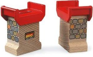 Brio 33254000 - Brückenfundament, Brückenpfeiler, 2 Stück