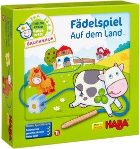 Haba 5580 - Meine erste Spielwelt Bauernhof: Fädelspiel auf dem