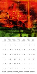 Flowers and windows (Wall Calendar 2015 300 × 300 mm Square)