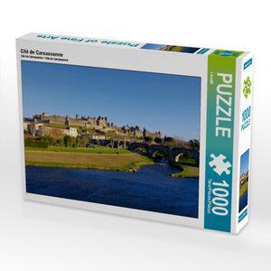 Cité de Carcassonne 1000 Teile Puzzle quer