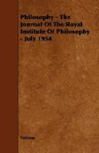 Philosophy - The Journal of the Royal Institute of Philosophy -