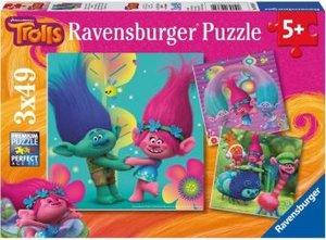 Ravensburger Puzzle Dreamworks Trolls - Poppy bunte Welt 3 x 49