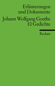 Johann Wolfgang Goethe.10 Gedichte