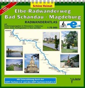 Elbe-Radwanderweg Bad Schandau - Magdeburg 1 : 75 000. Radwander