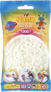 Hama 207-55 - Perlen leuchtfarben/grün, Leuchtperlen, 1000 Stück