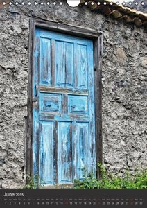 Doors on La Gomera (Wall Calendar 2015 DIN A4 Portrait)