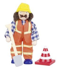 Goki 51629 - Biegepuppe Bauarbeiter