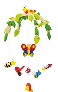 Goki 52966 - Mobile: Insekten II, aus Holz