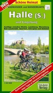 Halle ( Saale) und Umgebung 1 : 50 000. Wander-und Radwanderkart