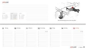 Loriot Wochenquerplaner - Kalender 2017