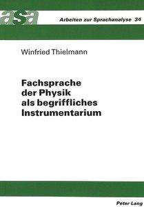 Fachsprache der Physik als begriffliches Instrumentarium