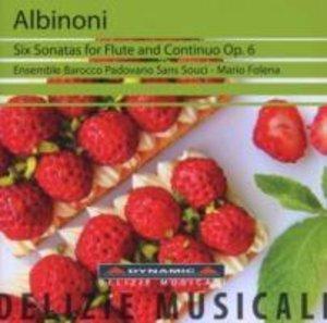 6 Sonaten für Flöte und Continuo op.6