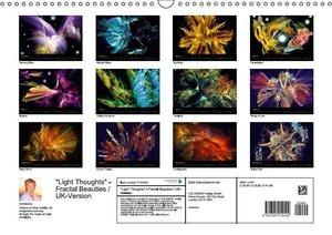 """""""Light Thoughts"""" - Fractal Beauties / UK-Version (Wall Calendar"""