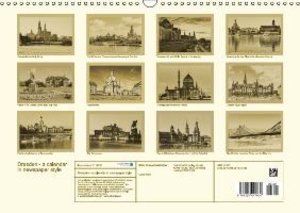 Dresden - a calendar in newspaper style (Wall Calendar 2015 DIN